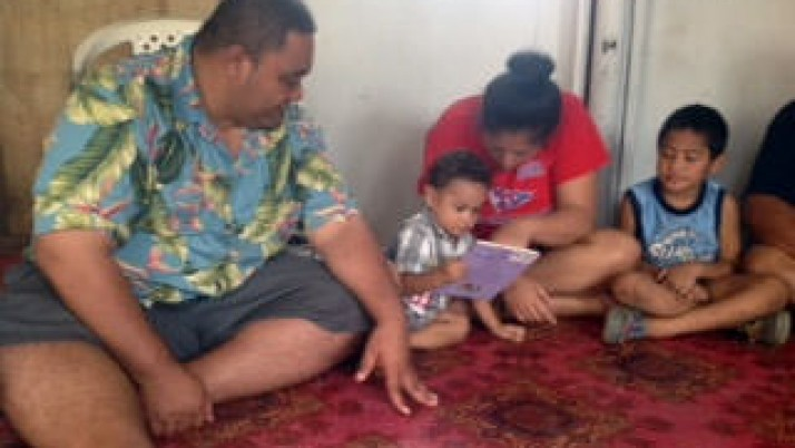 Deb Harms promotes family literacy in Samoa