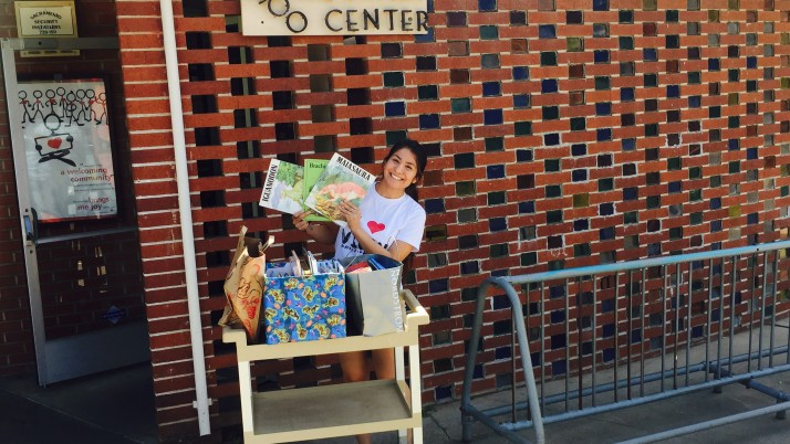 Maricela Cortes collected books for summer reading!