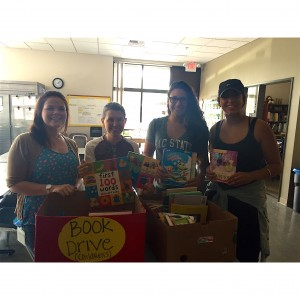 Coryn Hernandez and Hannah McMillan collected and donated books to Shriner's Children's Hospital!